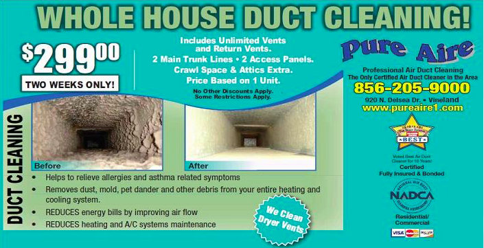 Duct Cleaning Special Offers Vineland New Jersey